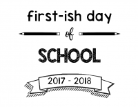 First-ish Day 2017-2018