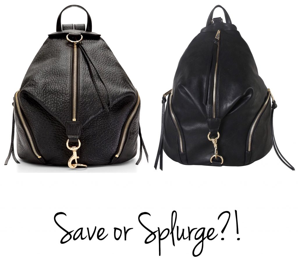 Leather Zippered Backpack - Designer Look for Less