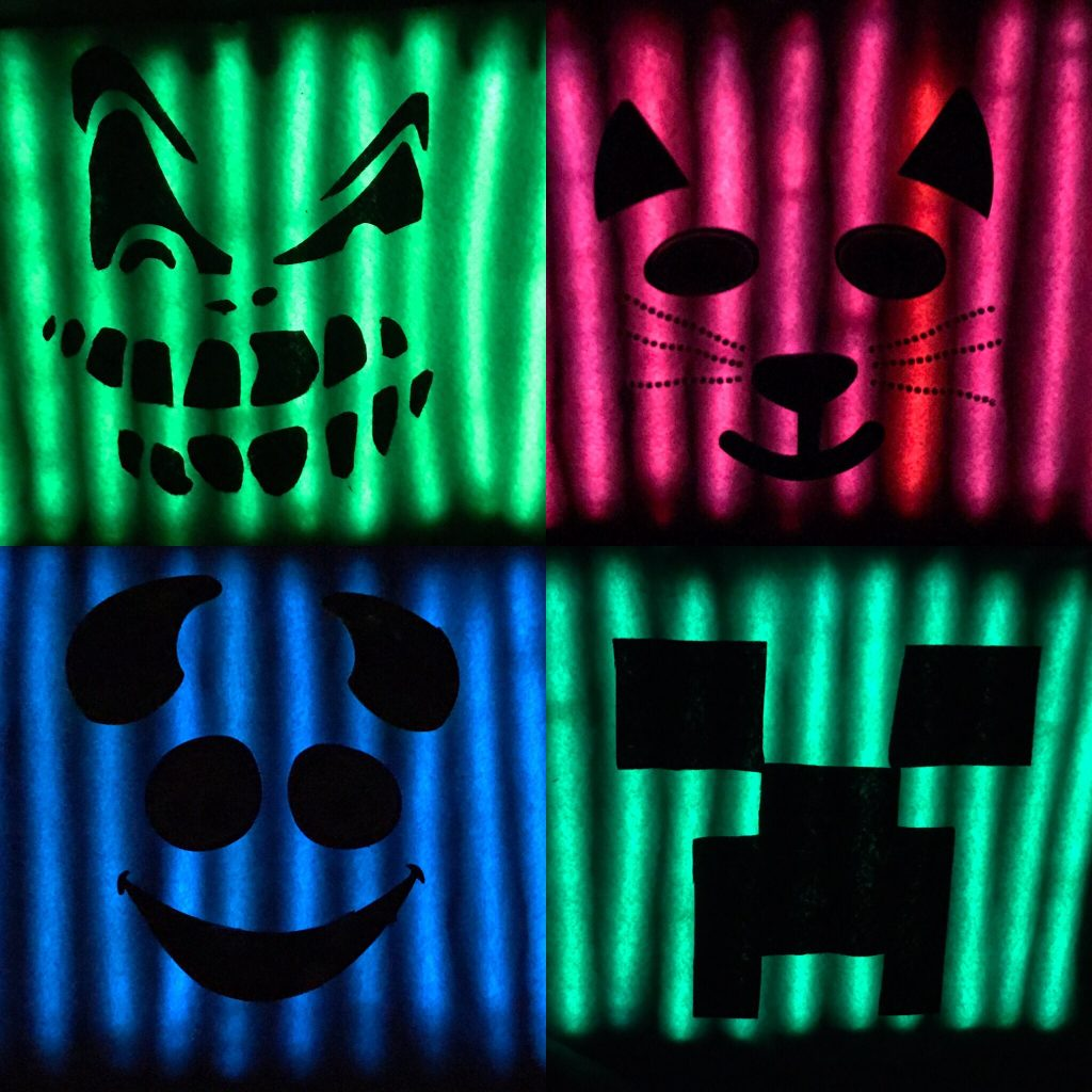 DIY Glowing Halloween Treat Bags