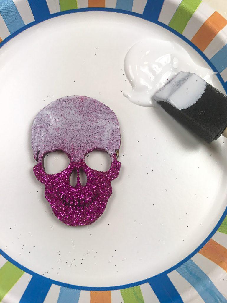 DIY Halloween Glitter Ornaments