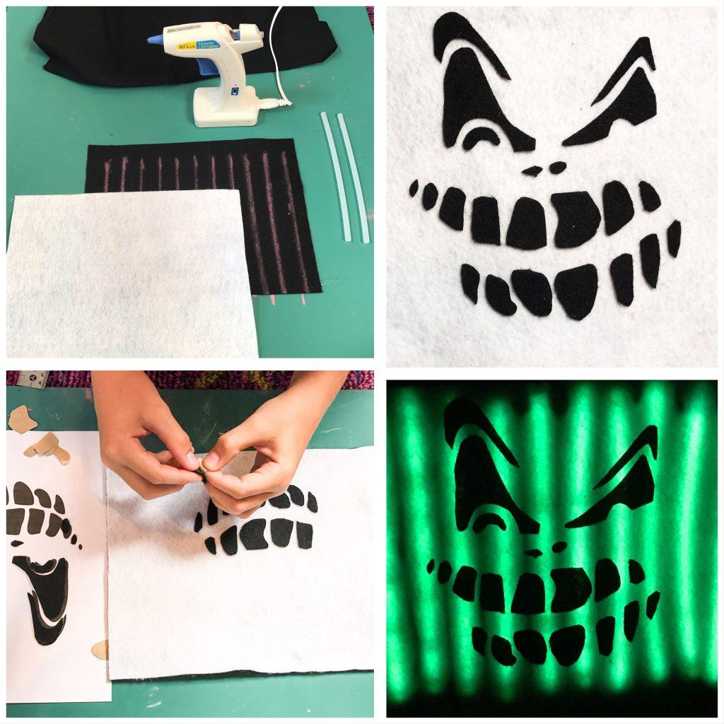 DIY No Sew Glowing Halloween Treat Bag - Part One Glow Panels