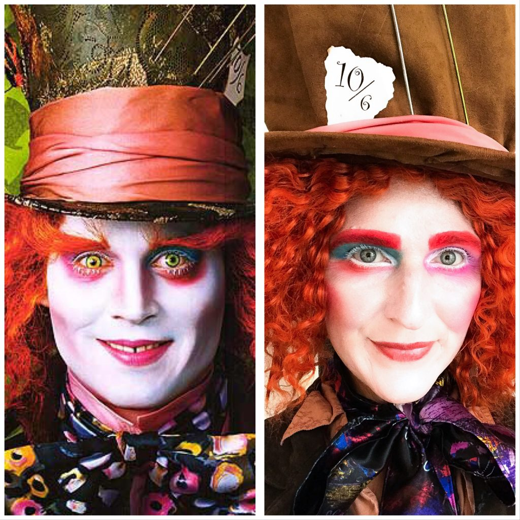 Mad hatter costume makeup tutorial south lumina style weve put together a quick tutorial on how to transform yourself into the mad hatter for a showstopping halloween costume this fall baditri Gallery