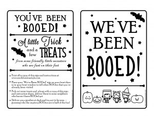 thumbnail of We've Been Booed Sign and Instructions New 2