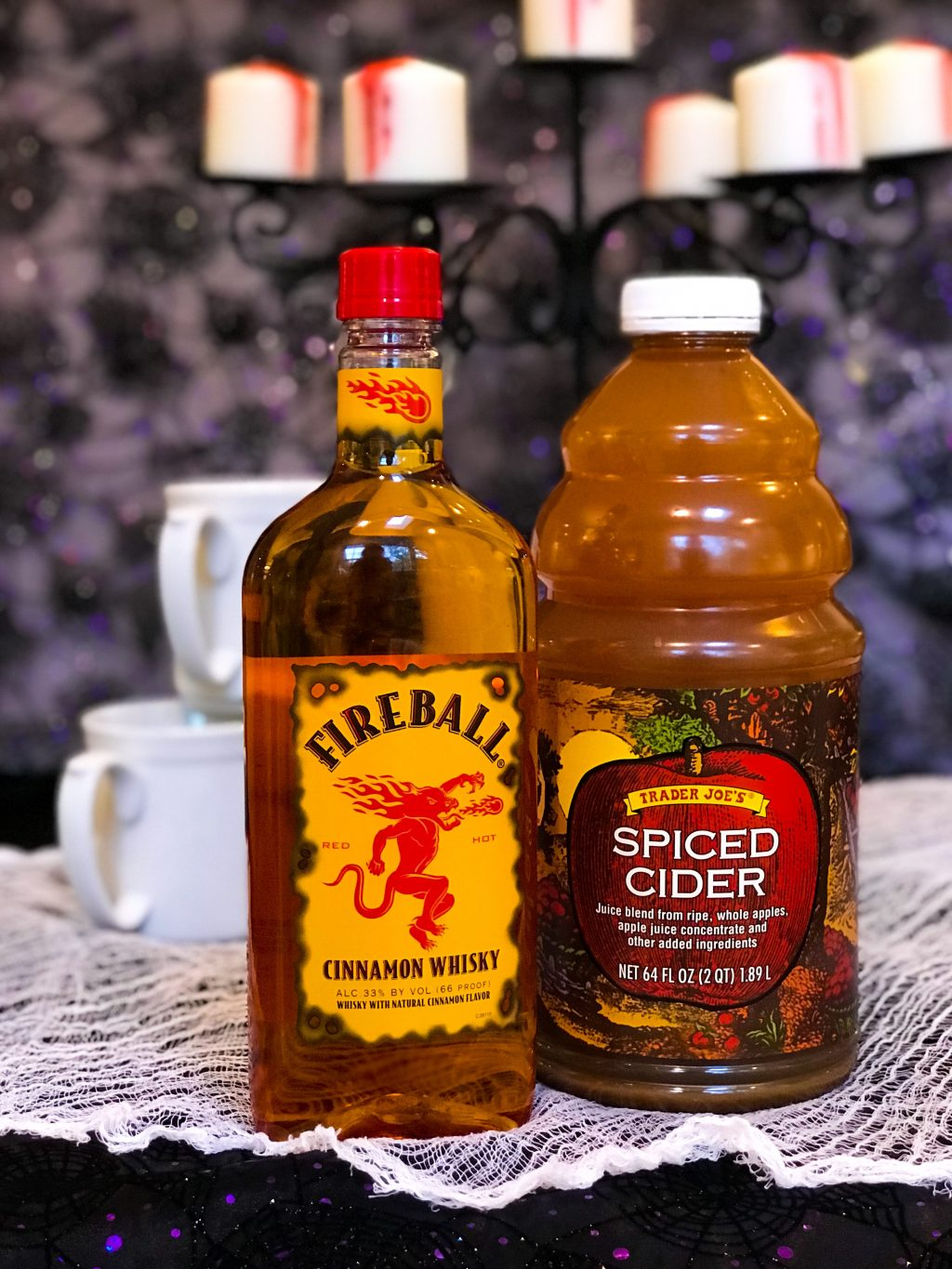 Cozy Fall Drink - Hot Cider and Fireball