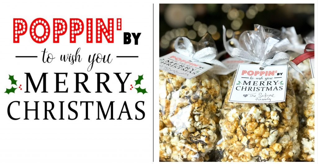 Poppin' By To Wish You Merry Christmas Printable