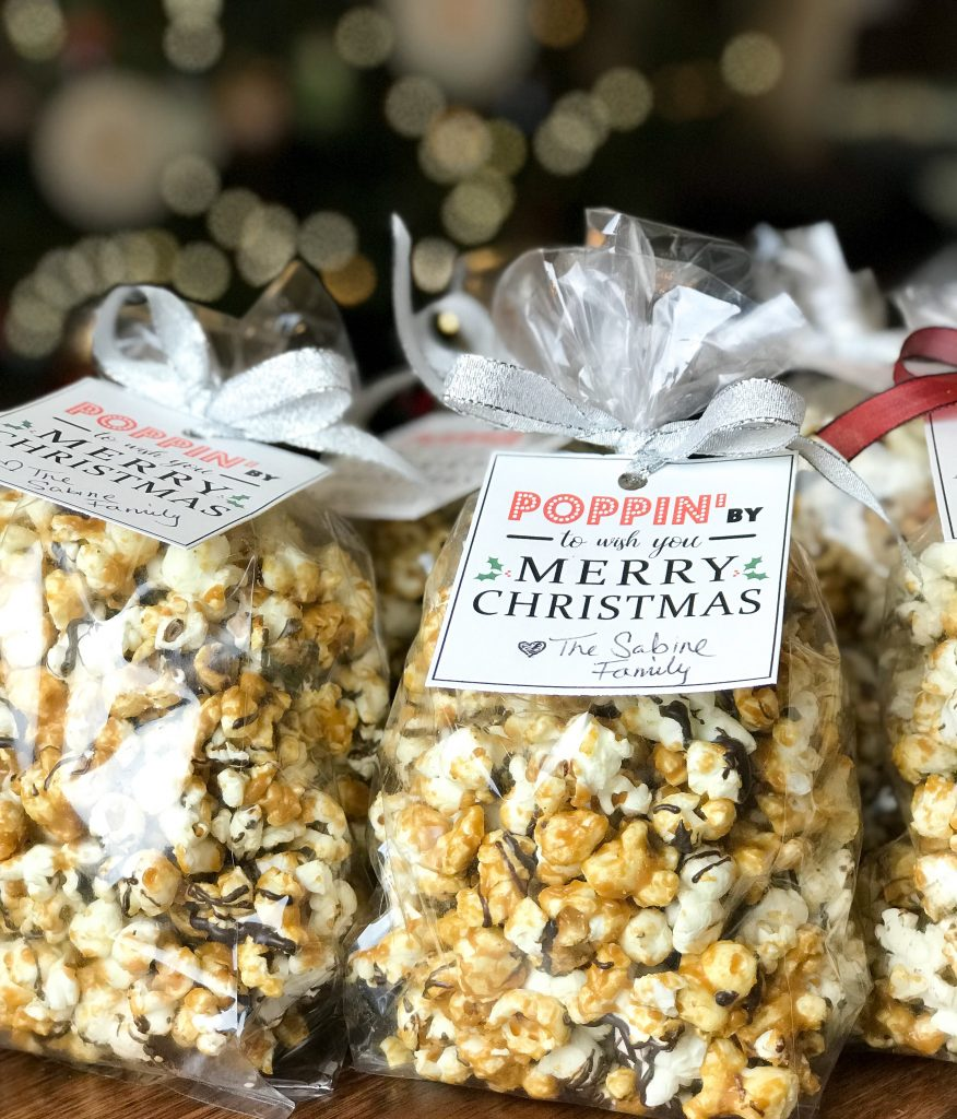 popcorn, neighbor gifts, hostess gifts