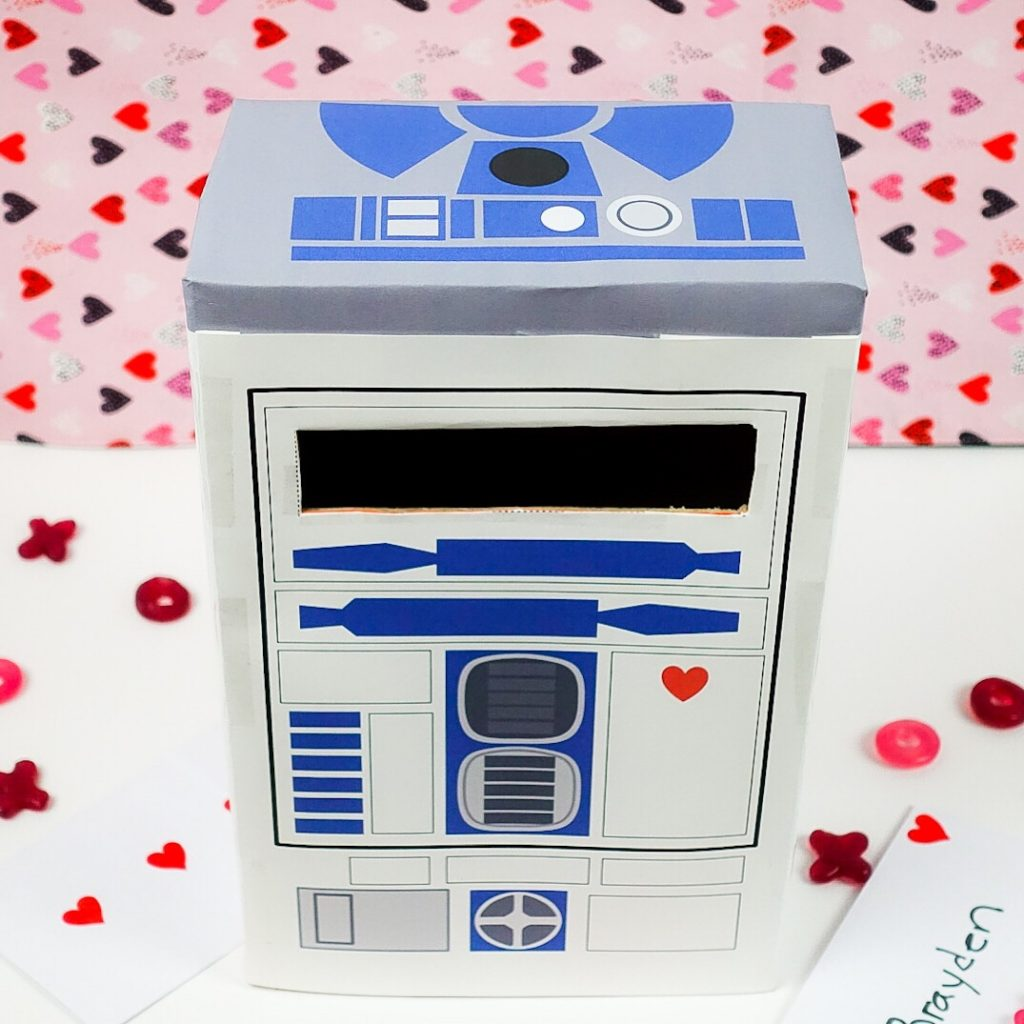 R2D2 Classroom Valentine Mailbox Printable