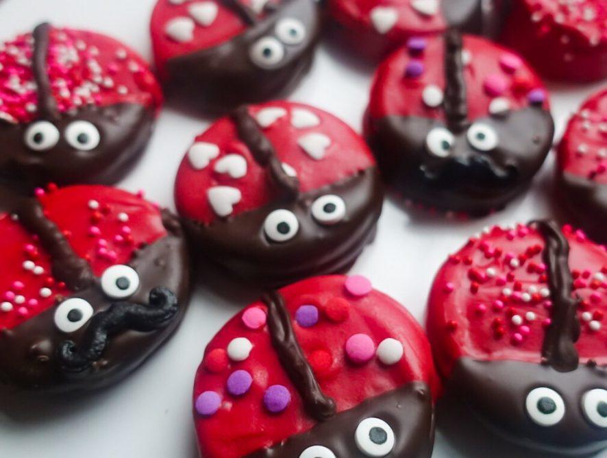Love Bug Valentine Cookies