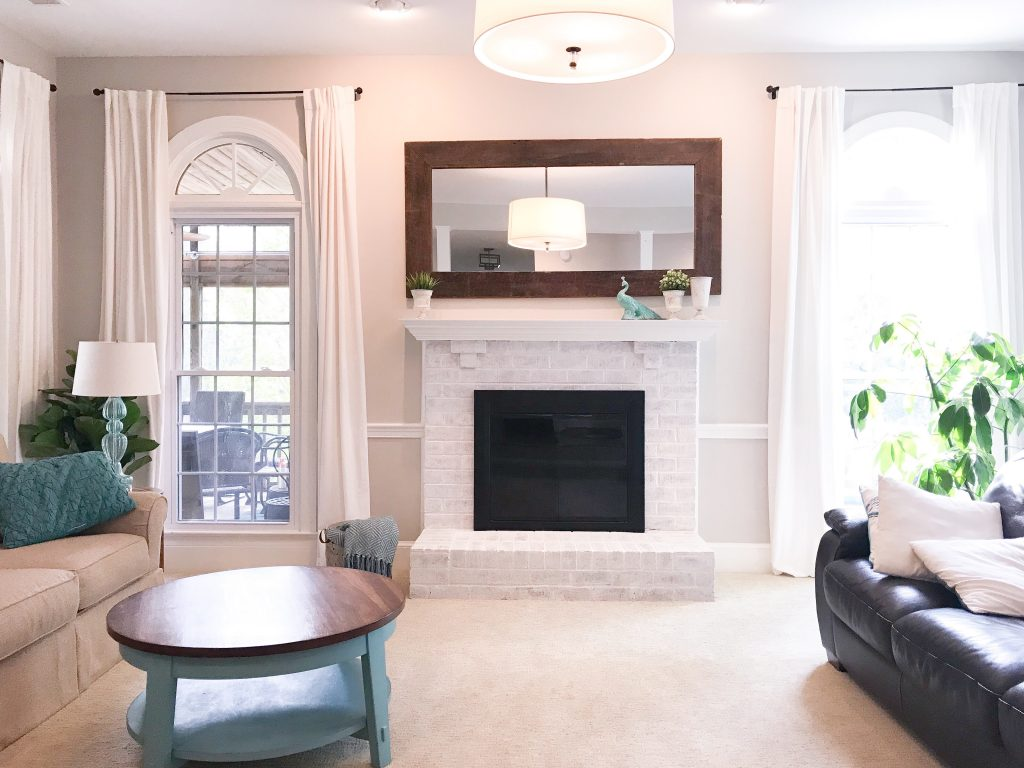 How To Limewash Your Brick Fireplace