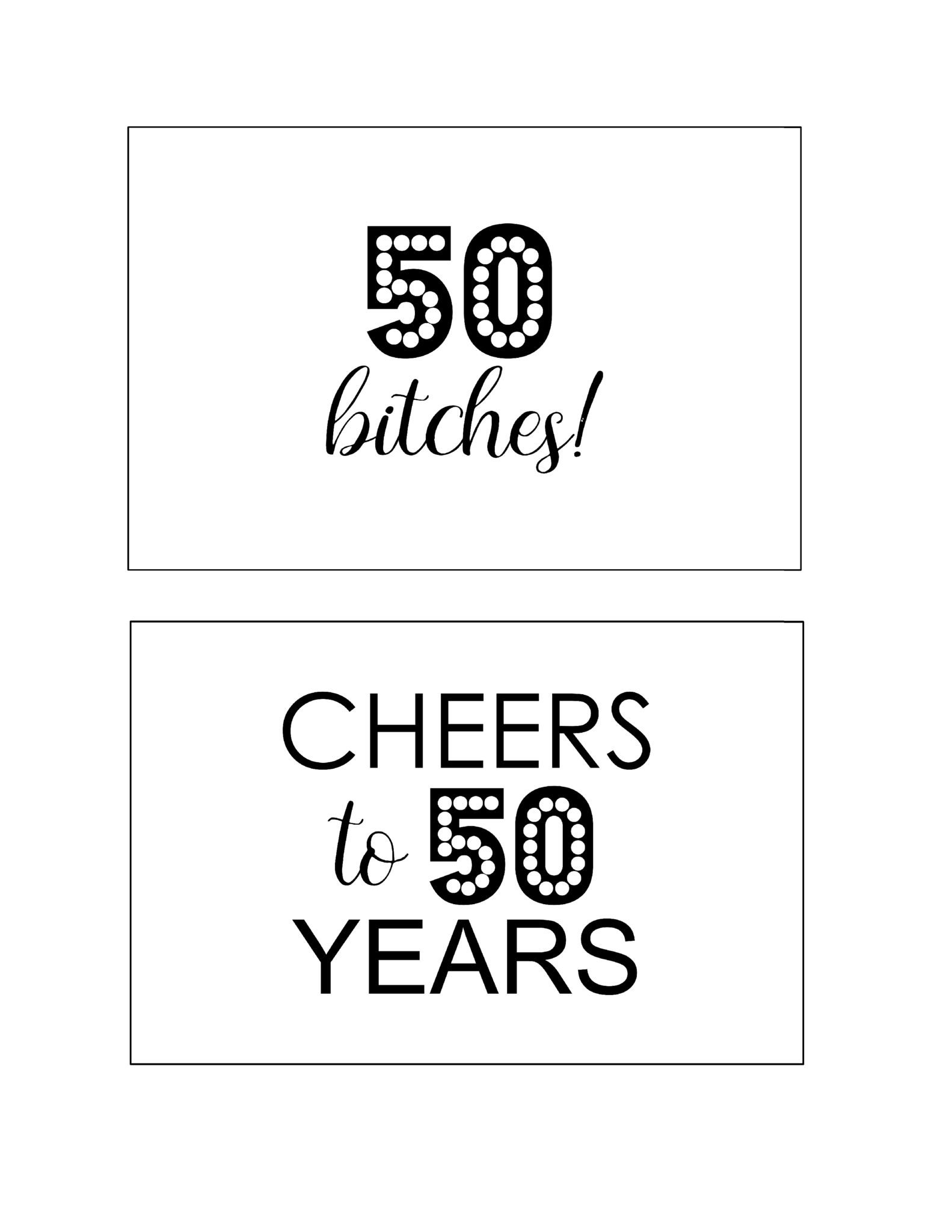 diy printable 50th birthday signs cheers to 50 years south lumina