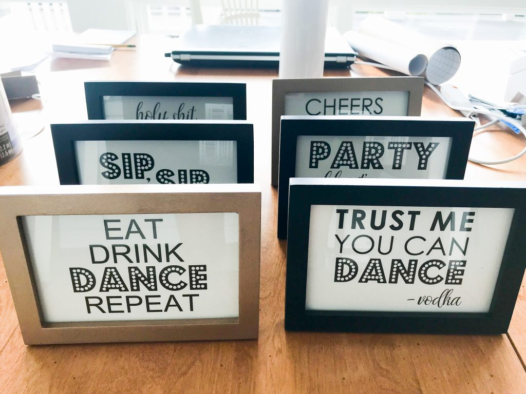 DIY Printable Adult Birthday Party Signs