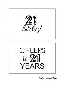 thumbnail of South Lumina Style DIY Printable 21 Birthday Signs 21st Birthday Cheers to 21 years