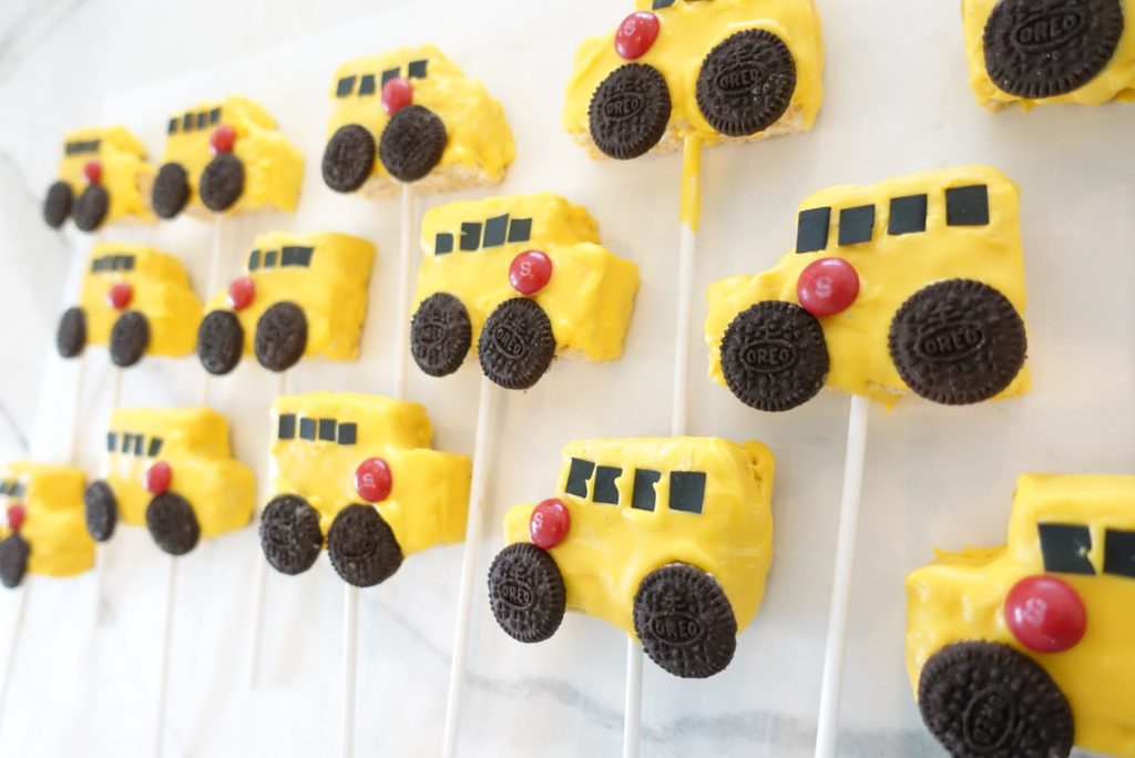 South Lumina Style School Bus Rice Krispie Treats