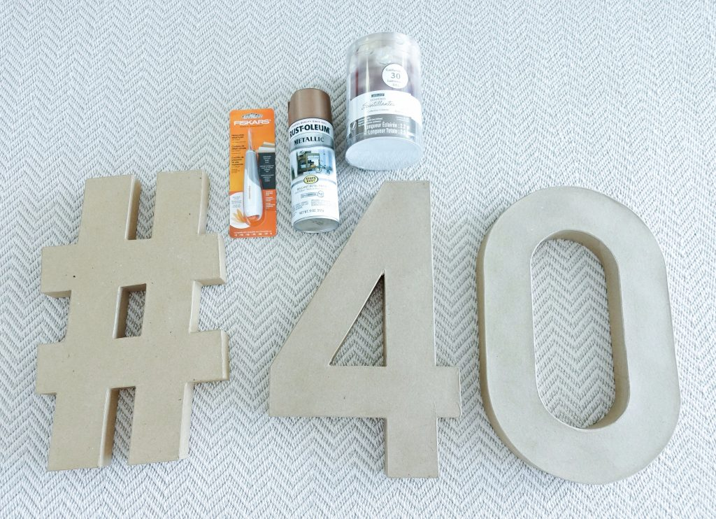 DIY Marquee Numbers