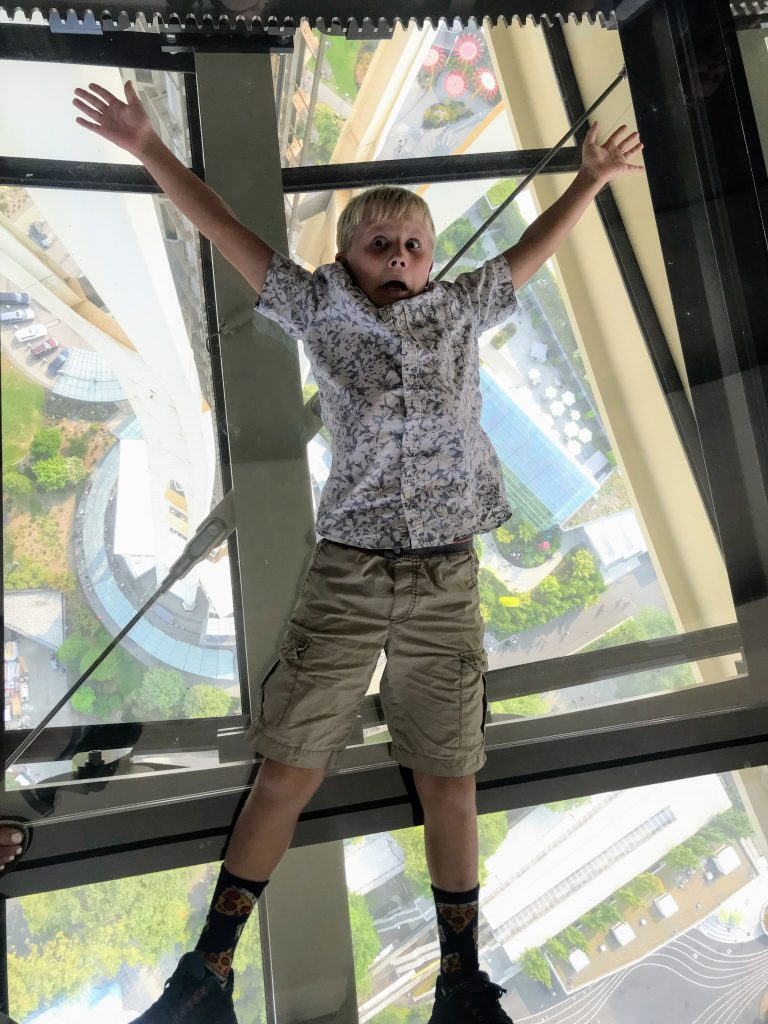 Seattle with Kids - Space Needle Rotating Glass Floor