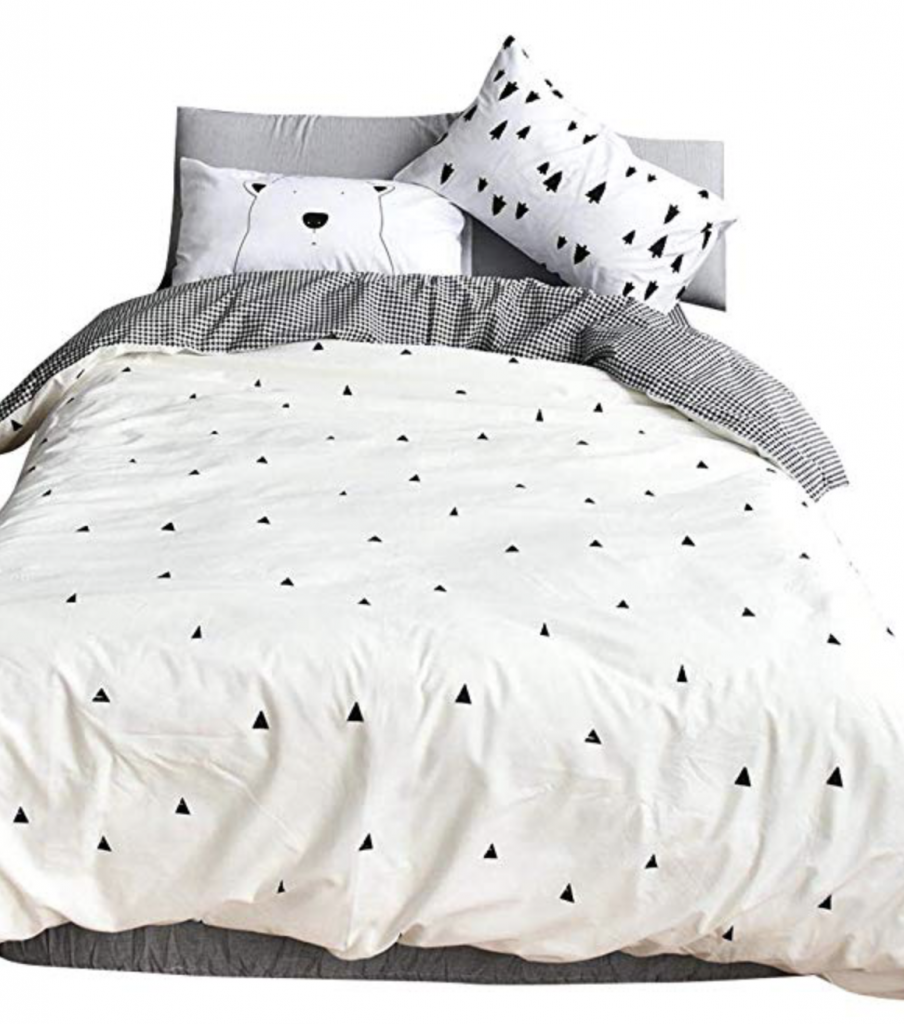 Our Favorite Boy Bedding - BuLu Tu Triangle Bedding on Amazon