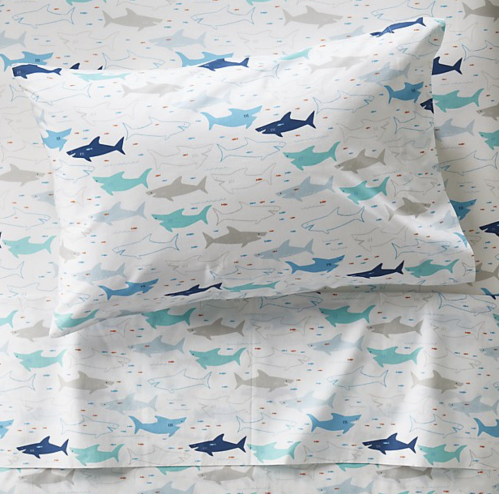Crate & Barrel Shark Bedding