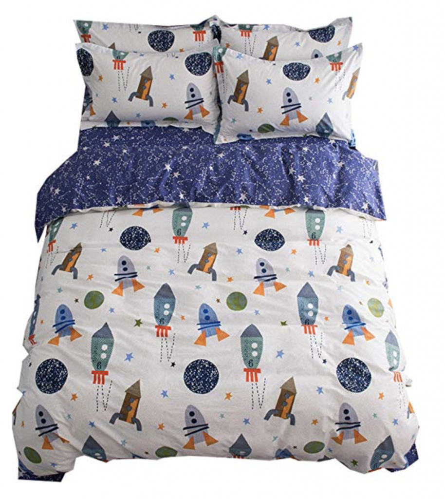 Amazon Rocket Ship Bedding
