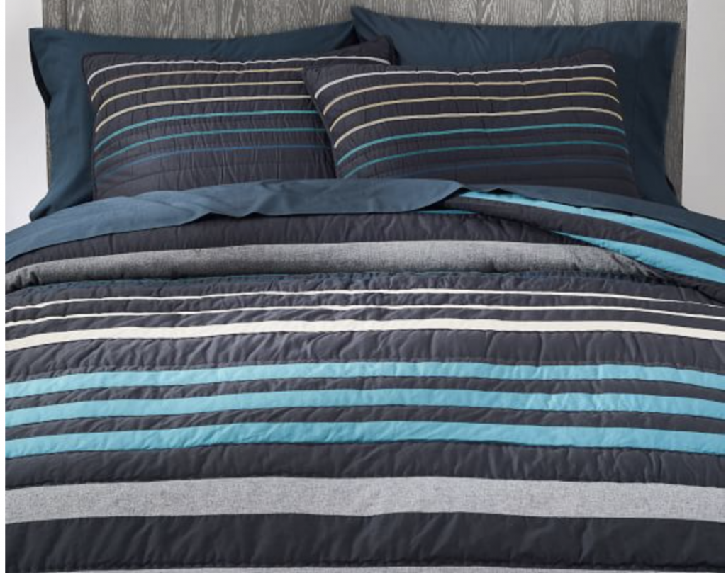 Our Favorite Bedding for Boys - Potterybarn Teen Laid Back Stripes Bedding