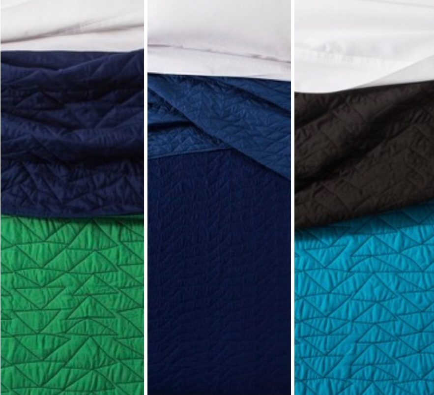Our Favorite Boy Bedding - Target Triangle Stitch Coverlet - Available in Multiple Colors