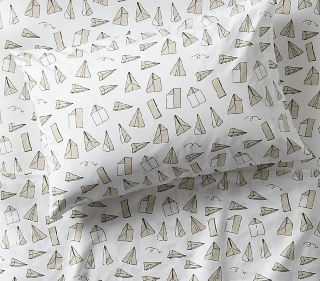 Paper Airplane Sheet Set