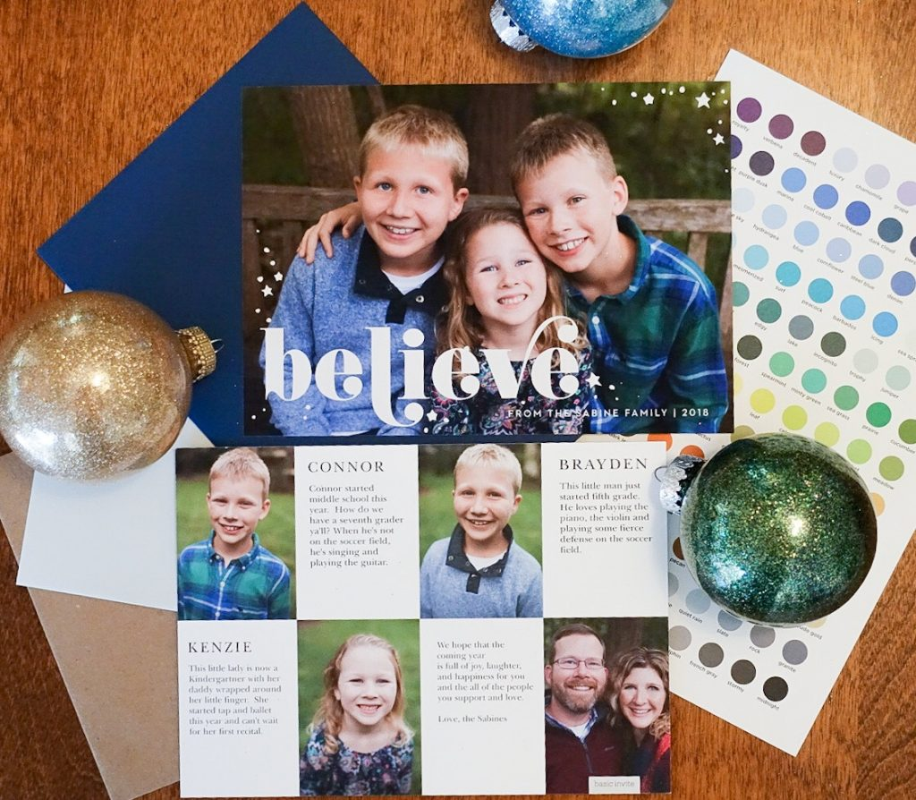 Christmas & Holiday Cards With Basic Invite {Sponsored Post}