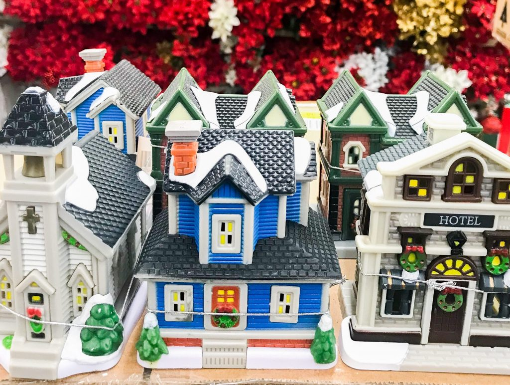 Dollar Store Christmas Village Houses