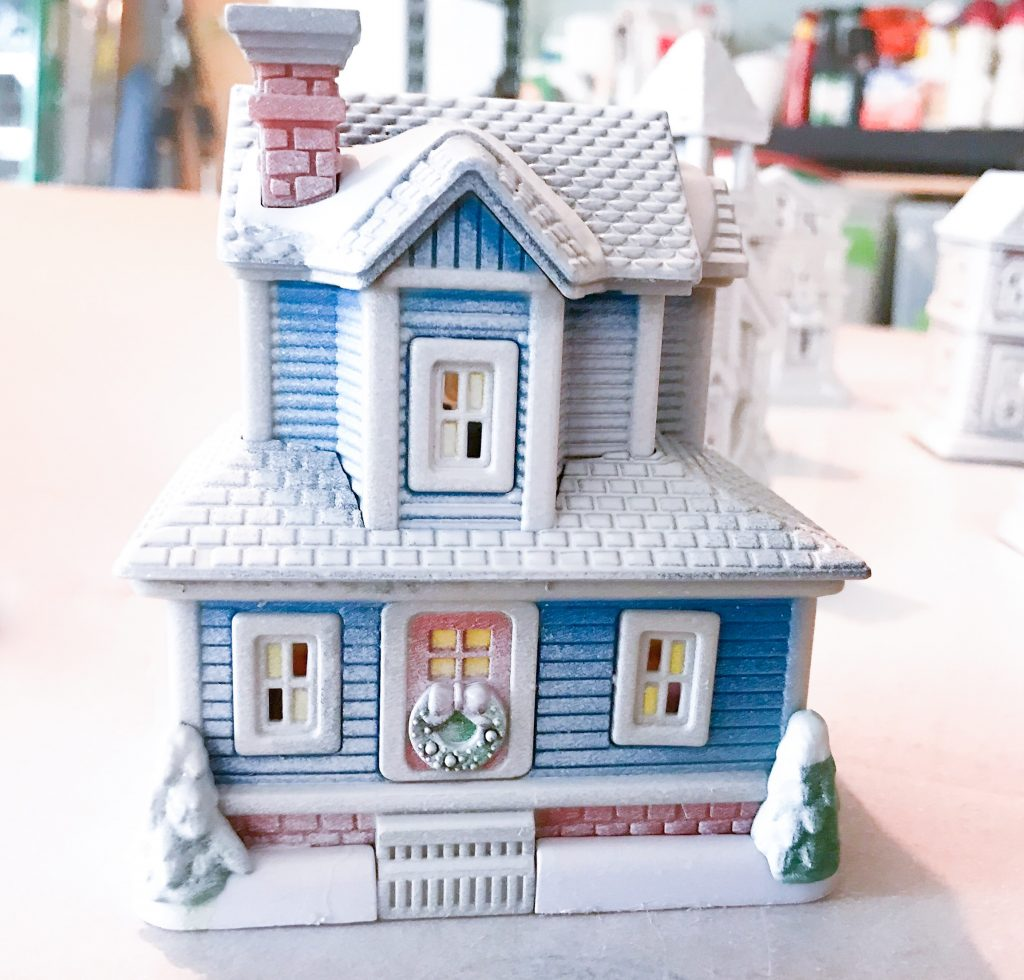 Dollar Store Christmas Village House