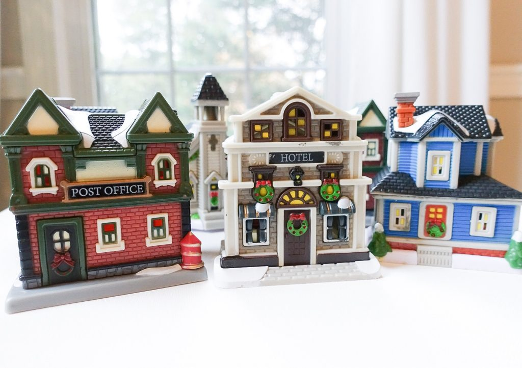 Dollar Store Christmas Village Houses - Dollar Tree