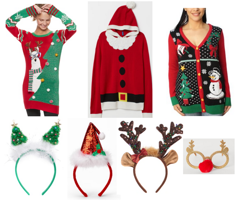 Ugly Christmas Sweaters and Christmas Headbands