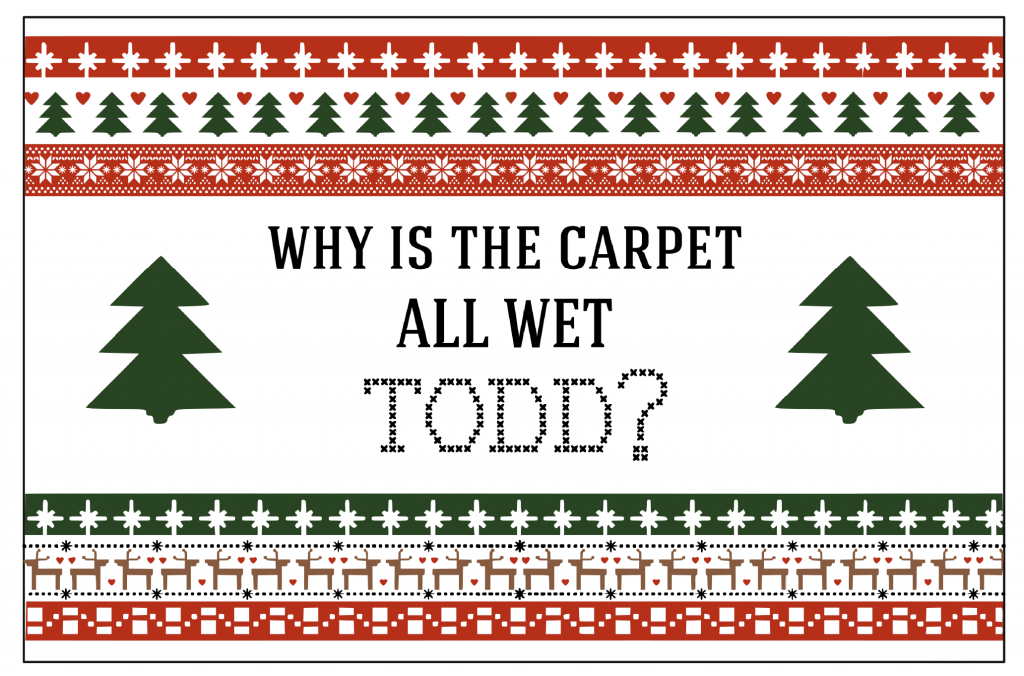 Christmas Vacation Printable Party Signs - Why is the carpet all wet Todd?