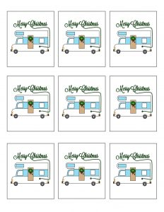 thumbnail of Christmas Vacation Printable Gift tags Uncle Eddie RV
