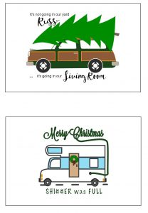 thumbnail of Christmas Vacation Printable Signs 4 x 6 – Station Wagon and RV