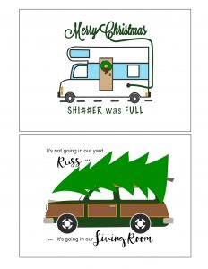 thumbnail of Christmas Vacation Printables 5×7 – RV & Station Wagon