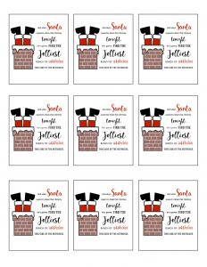 thumbnail of Printable Christmas Gift Tags Santa In the Chimney