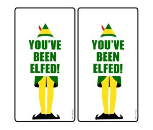 You've Been Elfed Printable Gift Tags