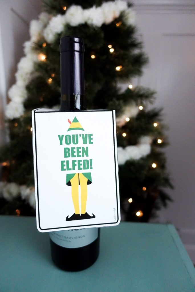 You've Been Elfed Printable Hang Tags