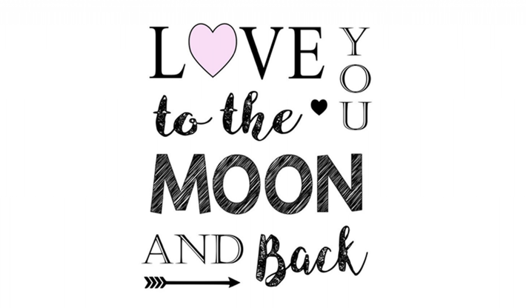 Love You To The Moon And Back Valentine's Day Printable